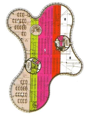 20. Kütüphane ve Medya Merkezi, Plan, Herzog & De Meuron, Almanya, 2006. (Kaynak: Architectural Review 1310)