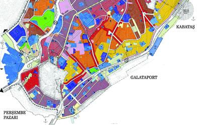 <p><strong>2.</strong> Beyoğlu  koruma imar planı: beyaz bölgeler</p>