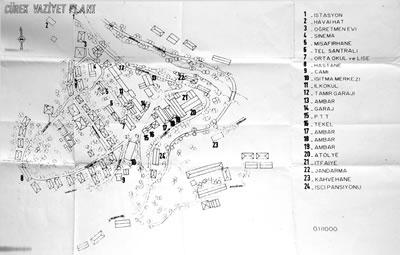 <p><strong>2.</strong> 1/1000 ölçekli vaziyet planı<br />  Divriği Belediyesi Arşivi,  Yılı Bilinmiyor</p>