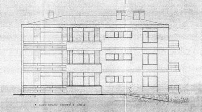 <p><strong>2. </strong>Kaplancalı  Sayfiye Evi Kuzu Sokağı cephesi (Y. Mimar Bedros Küçükün projesi, 1958)<br />  Kaynak:  Kadıköy Belediyesi İmar Müdürlüğü  Arşivi</p>