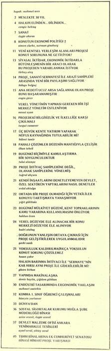 <p><strong>2.</strong> <strong>Mimarlık</strong>, 1979, sayı: 161, s.1.</p>