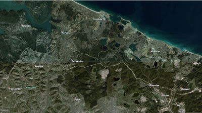 <p><strong>2.</strong> Aralık 2013 e ait hava fotoğrafı: Çalışmalar başlamadan önce<br />   Kaynak: Google Earth</p>