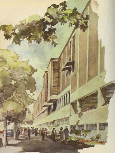 <p><strong>2.</strong> Askeri Müze Yarışması için  hazırladığı cephe çizimi, 1967-1991<br />   Kaynak: Osmanağaoğlu,  Canan, 2007, Tasarımları ve Eğitimciliği Işığında Nezih Eldemin Mimarlık  Anlayışı, İTÜ FBE, yayımlanmamış yüksek lisans tezi, İstanbul.</p>
