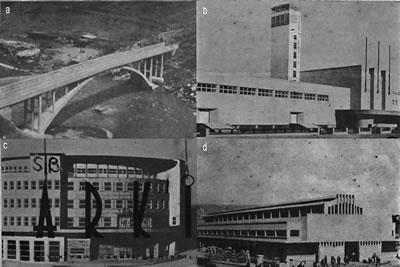 <p><strong>2.</strong> Türkiye de modern mimarlığın kamusal  ölçekteki ilk örneklerinden. (a) Paşur Köprüsü, <em>Arkitekt</em> 1935/3 (b) Sergi Evi, <em>Arkitekt</em> 1935/4 (c) Sümerbank Projesi, <em>Arkitekt</em> 1935/3 (d) İstanbul Sebze ve Meyve Hali, <em>Arkitekt </em>1935/7-8 </p>