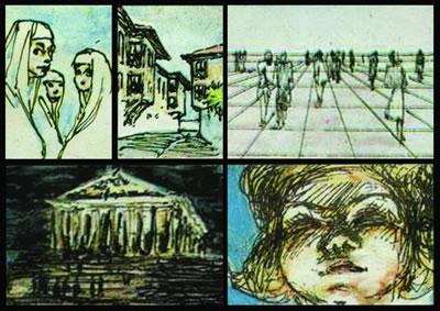 """<p><strong>2.</strong> Nezih Eldemin """"Mekân Örgütlenmesi"""" dersinde küçük  dialara çizip üzerinden ışık, biçim / içerik kavramlarını anlattığı eskizlerden  bir seçki<br />   Kaynak: Osmanoğlu, Canan, 2007,  Tasarımları ve Eğitimciliği Işığında Nezih Eldemin  Mimarlık Anlayışı, İTÜ FBE, yayımlanmamış yüksek lisans tezi, İstanbul.</p>"""