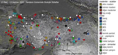 <p><strong>2.</strong> Yaşanan ihtilafların Türkiye  haritasındaki dağılımı</p>