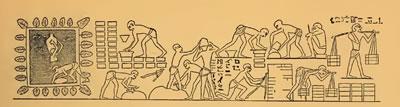 <p><strong>2.</strong> Antik Mısırda kerpiç tuğla yapımını anlatan bir duvar resmi, Vezir Rekhmirin  Mezarı, Teb Kenti, Mısır. <br /> Kaynak: Baldwin-Smith, E., 1938, <strong>Egyptian  Architecture as Culture Expression</strong>, D. Appleton-Century Compnay, London.</p>