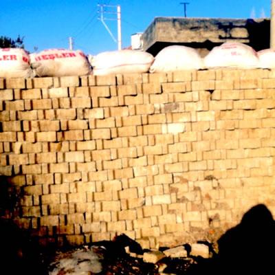 <p><strong>2. </strong>Nusaybin Abdülkadir Paşa Mahallesi yaşayanları tarafından  tuğlalardan örülen bu duvarlar mimari unsur olarak nekrosiyate karşın direnç  mimarlığı örneği. 2016 da bu bölge imha edildi, 6.000 kadar bina yıkıldı, 30  bin kişi evlerini kaybetti. Bu bölgede devlet hızlı bir şekilde yeni lüks konut  alanları inşa etti.<br /> Fotoğraf: Pelin Tan<strong></strong></p>