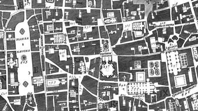 <p><strong>2.</strong> Nollinin Roma  Haritası, 1748.</p>