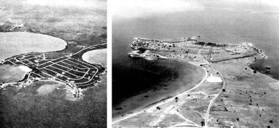 <p><strong>2.</strong> Bayramoğluna ait sırasıyla 1962 ve 1965 tarihli hava  fotoğrafları<br /> Kaynak: Darıca  Belediyesi Arşivi</p>