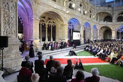 2. Lizbon'da Jerónimos Manastırı Avlusu'nnda yapılan 2012 Yılı Ödül töreni (© Pedro Melim / Europa Nostra)