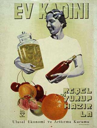 <p><strong>2.</strong> İhap Hulusi Görey tarafından tasarlanan  afiş: &ldquo;Ev kadını reçel ve şurup hazırla&rdquo;. <br />Kaynak: http://www.ihaphulusi.gen.tr/sanalsergi.html [Erişim: 04.06.2012]