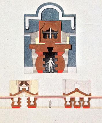 <p><strong>2. </strong>Robert  A. M. Stern tarafından Strada Novissima için tasarlanan cephe.<br />  Kaynak: 1980, <strong>Venice Architecture Biennale Catalogue</strong>,  s. 47.</p>