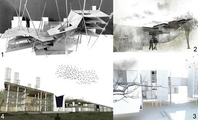 <p><strong>2.</strong> İTÜ 2014-2015 İpek Yürekli-Gizem Özer  Architectural Design 5-6 Stüdyosundan Örnekler: 1-Zeynep Kocabaş: Karaköy'de kadınların hem fiziksel,  hem psikolojik, hem de ekonomik  açıdan güç kazanmasına yardım  edecek bir merkez. 2-Arif Aktaşlı: Levent'te körler için müzik ve sanat eğitim  merkezi ve konser salonu. 3-Merve Çilingir: Arnavutköy'de artık monotonlaşmış  olan konut kavramını deforme etmeyi ve sokağı konutun mahremiyetinin içine  almayı amaçlayan bir toplu- konut. 4-Tamar  Gürciyan: Beylerbeyi'nde denizden,  rüzgardan, güneşten ve topraktan enerji üreten  araştırma merkezi ve insanın kendi  ürettiği enerjiyle tedavi  olacağı fizik tedavi  merkezi.</p>