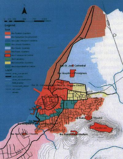 <p><strong>Resim  2.</strong> 20. yüzyılın ilk  yıllarında İzmir'de toplumsal yaşam alanları<br />  Kaynak: Belge, 2012, s.102.</p>
