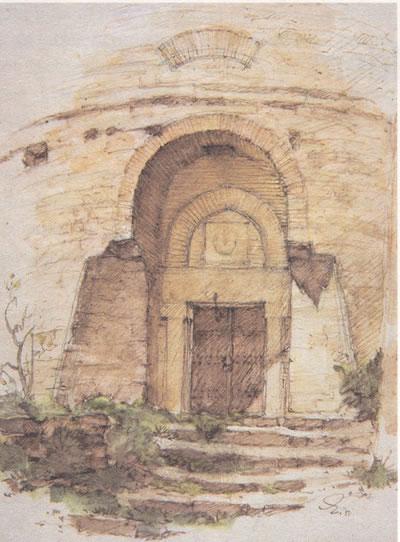 <p><strong>2a. </strong>Mimar ve ressam  olarak tanınmış Nezih Eldemin eskiz çalışmaları. Diaların üzerine çizdiği eskizleriyle  ünlü bir dersi de bulunuyor.</p>