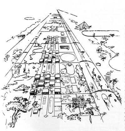 <p><strong>2b.</strong>Leonidov Magnitogorsk Lineercity, 1930<br />Kaynak: www.tumblr.com/search/Ivan+Leonidov [Erişim: 01.11.2015]