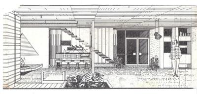 <p><strong>2b.</strong> Bir bina etüdünün eskizi, 1960 lar</p>