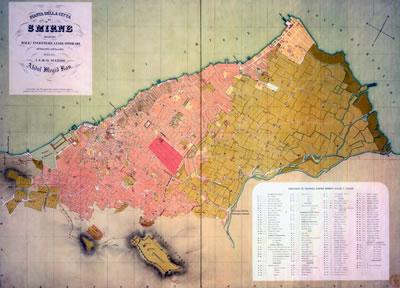<p><strong>3.</strong> 1856 Storari Haritasında Ermeni  Mahallesi<br />Kaynak: APİKAM Arşivi, İzmir.