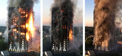<p><strong>3. </strong>20 dakika ara ile  yangının ilerleme hızı<br />Kaynak: www.bbc.com [Erişim: 14.7.2017]