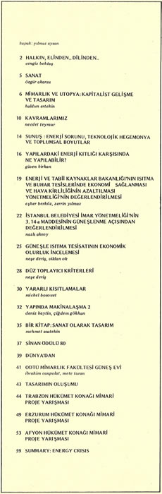 <p><strong>3.</strong> <strong>Mimarlık</strong>, 1980, sayı: 162, s.1.</p>