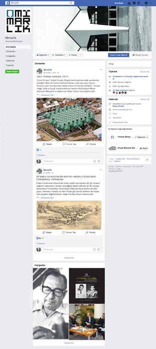<p><strong>3. </strong>Dergininwww.facebook.com/mimarlikdergisi adresinden izlenebilen Facebook sayfası.</p>