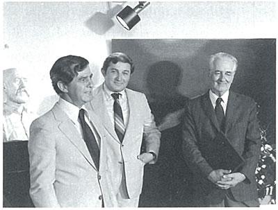 <p>Sedad Hakkı Eldem (en  sağda) ve Onun döneminin son iki yapı hocası Prof. Hamdi Şensoy (en solda) ve Prof.  Gündüz Gökçe, 1970 li yıllar</p>