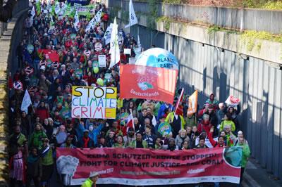 <p><strong>3.</strong> COP 23 ün açılış günü 4 Kasım  2017 tarihinde düzenlenen yürüyüşten</p>
