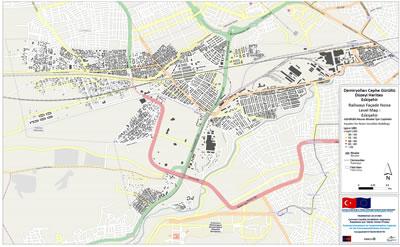 <p><strong>Şekil 3.</strong> Eskişehir  pilot alanı alfa ızgara  sonuçları (sol resim) ve Eskişehir asıl gürültü hesaplamasından örnekbir ızgara  sonuçları. (sağ resim)(Kaynak: T.C. Çevre ve Şehircilik Bakanlığı için  hazırlanan Eskişehir Pilot Alanı Gürültü Haritalama Raporundan alınmıştır)</p>