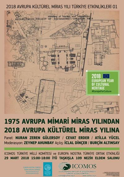 <p><strong>3</strong><strong>.</strong> 1975  Avrupa Mimari Miras Yılından 2018 Avrupa Kültürel Miras Yılına Etkinlik  Afişi<br />  Kaynak: URL8. </p>