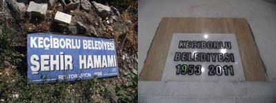 <p><strong>3.</strong> Hamama ait onarım levhaları</p>