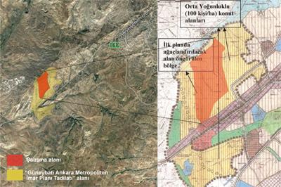 """<p><strong>3.</strong> 1/50.000 ölçekli """"Güneybatı Ankara Metropoliten İmar Planı  Plan Revizyonunu"""" Bilirkişi Raporu,  T.C. Ankara 16. İdare Mahkemesi E. 2007/1705 ve K.2008/1147'den üretilmiştir.</p>"""