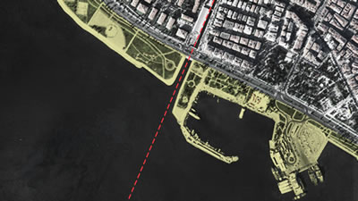 <p><strong>3.</strong> Bostanlı Deresinin İzmir Körfezine  döküldüğü proje alanı<br />   Kaynak:  Stüdyo Evren Başbuğ</p>