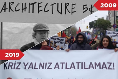 <p><strong>3.</strong> Çalışan mimarların protestoları<br />   Kaynak:  mimarizm.com/haberler/gundem/calisan-mimarin-10-yillik-meydan-okumasi_129799</p>