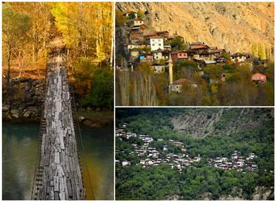 <p><strong>3.</strong> Çoruh Vadisi Yusufeli kesimindeki köy  yerleşimlerinden bazıları</p>