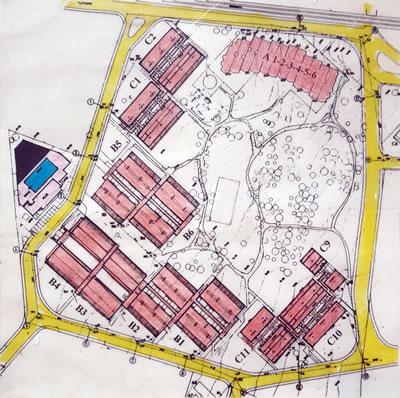<p><strong>3.</strong> Yeşilköy Sitesi vaziyet planı, 1973, Baysal-Birsel</p>