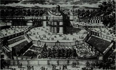 <p><strong>3. </strong>Le Vaux döneminde Versailles da kurulan hayvanat bahçesi (ménagerie)<br /> Kaynak: Fisher, 1967, s.49.</p>