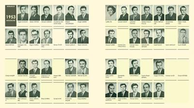 <p><strong>3.</strong> Nişan Yaubyanın da içerisinde  bulunduğu 1953 yılı İTÜ mimarlık mezunları<br /> Kaynak: https://twitter.com/mimarliktarihi_/status/1062297890574528512  [Erişim: 20.05.2021]</p>