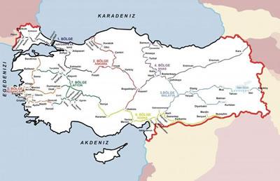 <p><strong>3. </strong>Türkiyedeki mevcut konvansiyonel hatlar<br /> Kaynak: URL4</p>