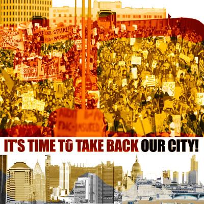 <p><strong>3.</strong> 2011 yılında dünyanın çeşitli yerlerinde insanlar  iktidar ve sermayeyle bütünleşmiş mekânları işgal ederek özgürlüklerini,  insanca yaşamalarını ve kentlerini geri alma çabasında bulundular. (&ldquo;Kentimizi Geri  Alma Zamanıdır&rdquo;, kolaj) </p>