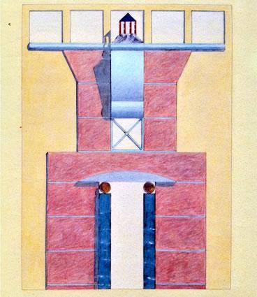 <p><strong>3. </strong>Michael  Graves tarafından Strada Novissima için tasarlanan cephe.<br />  Kaynak: 1980, <strong>Venice Architecture Biennale Catalogue</strong>,  s. 42.<strong></strong></p>