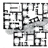 2. Yeni Gurna, cadde-kapalı vista.<br> (© J.M. Richards, I. Serageldin ve D. Rastorfer, 1984, Hassan Fathy, A Mimar Book, Concept Media, Architectural Press, Singapur, Londra)