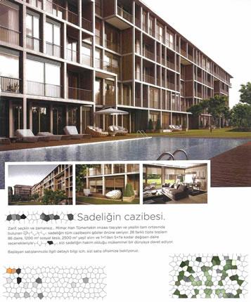 """<p><strong>Resim  3.</strong> İstanbul'da  mimarın itibarı üzerinden pazarlanan konut tasarımları. Vurgu: """"Mimar Han Tümertekin imzası taşıyan…""""<br />  Kaynak: <strong>Hürriyet</strong>, 2012.</p>"""