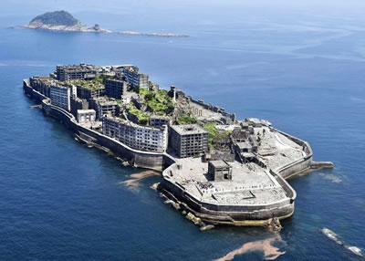 <p>&ldquo;Meiji  Sanayi Devrimi Alanları: Demir ve Çelik, Gemi Yapımı ve Kömür İşletmesi&rdquo; miras  alanına dahil olan kömür madenlerinin bulunduğu Hashima Adası<br />  Fotoğraf:  Kyodo</p>
