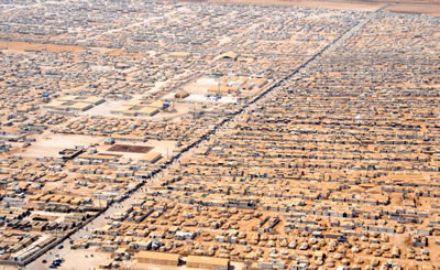 <p><strong>3.</strong> Ürdündeki Zaatari  Mülteci Kampı <br />Kaynak: Sharnoffs Global Views 2014
