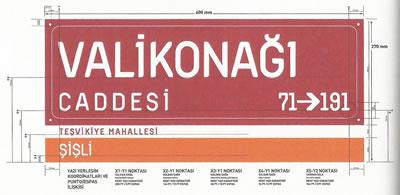 <p><strong>3.</strong> Bülent Erkmen ve Aykut Köksal  tarafından 2007 yılında tasarlanan sokak levhaları.<br />  Kaynak: <strong>İstanbul&rsquo;u Tabeladan Okumak sergi  kitapçığı</strong>, Garanti Galeri</p>