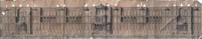 <p><strong>3.</strong> Sarkis ve Hagop  Balyana ait Çırağan Sarayı cephe önerisi, arşivin nesne olarak niteliğine  dikkat çekiyor<br /> Kaynak: <em>Balyanlar: Osmanlı Mimarlığı ve Balyan  Arşivi</em>, s.168.</p>