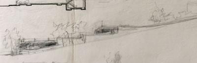 <p><strong>3b.</strong> Nezih Eldemin M.  Soygenişin öğrenci projesi Şişhanede otobüs terminali için tashih eskizi,  1980<br />   Kaynak:  S+ ARCHITECTURE Arşivi</p>