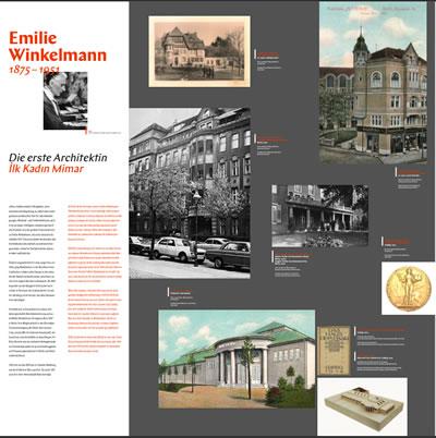 """<p><strong>3b. </strong>""""Kadın Mimar: Türkiye  ve Almanya da Mimarlık Mesleğinde Kadınlar"""" başlıklı sergiden bir kare<br /> Fotoğraf: Goethe Enstitüsü</p>"""