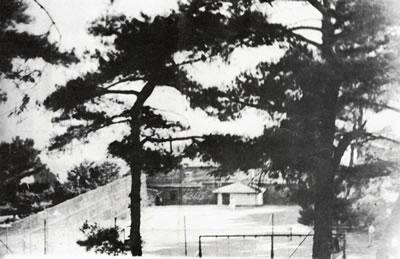 <p><strong>3b.</strong> Yamanlar Kampı'nın  1950'li yıllardaki görünümü, a. Gazino, b. tenis kortu, c. yüzme havuzu, d. hastalar  ve görevliler Atatürk'e saygı ve bağlılık duruşunda, e. sanatoryumunun  yapıldığı yıllardaki görünümü<br />Kaynak: <strong>Verem Savaş Derneği Faaliyet Kitabı</strong>,  s.20-26</p>